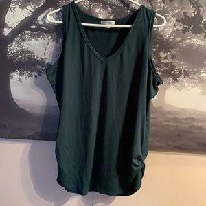 Dark green ruched tank top XL